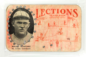 Vintage 1923 Lections Roger Hornsby Baseball Card