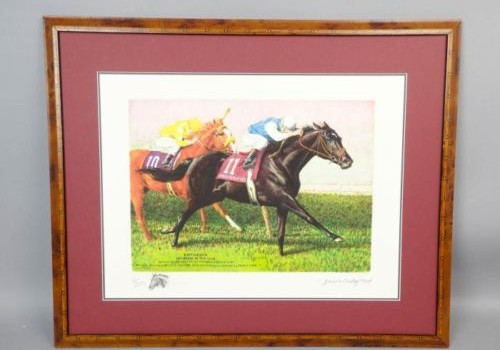 Horseracing Paintings by Jenness Cortez