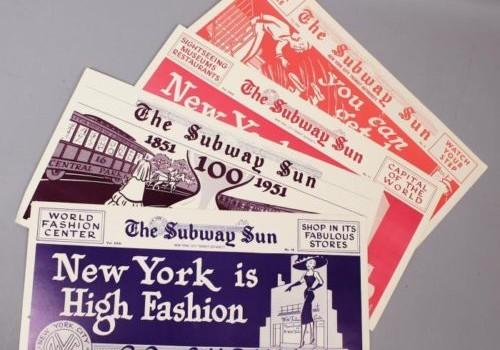 "Vintage 1951 Amelia Opdyke Jones ""Subway Sun"" Ad Posters"